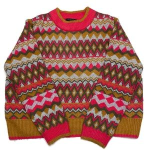 Andrew Marc New York Pattern Sweater Size XL
